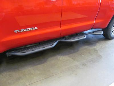 Tundra Running Boards For 07-21 Toyota Tundra Double Cab 6.5 Foot Bed With Bed Access Black Hammerhead Armor
