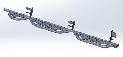 """RAM Running Boards for 2019 to Present 2500-3500 6' 4"""" Bed with Bed Step"""