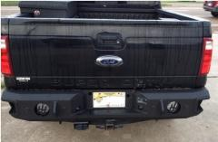 F-250-450 Rear Bumper With Sensors For 99-16 Ford F-250-450 Black Hammerhead Armor