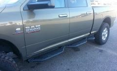 RAM Running Boards Crew Cab 6.4 Foot Bed With Bed Access For 10-18 RAM 2500-3500 Black Hammerhead Armor