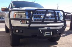 Ford F-150 Front Winch Bumper Full Brushguard For 09-14 Ford F-150 Black X-Series Hammerhead Armor