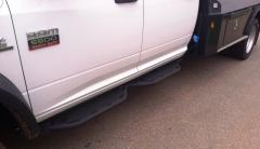 RAM Running Boards Cab Length Crew Cab For 10-18 RAM 4500-5500 Black Hammerhead Armor