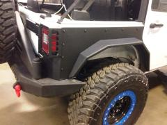 Jeep JK Rear Fenders 07-18 Wrangler JK 4 Door Replacement Black Hammerhead Armor