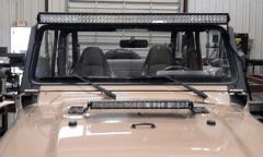 Jeep TJ A-Pillar 50 Inch Light Bar Mounts For 97-06 Wrangler TJ Black Hammerhead Armor