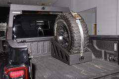 In Bed Spare Tire Carrier Universal 35-37 Inch Tire Strap Included Hammerhead Armor